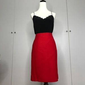 Dresses & Skirts - J. Crew Red Wool No. 2 Pencil Skirt
